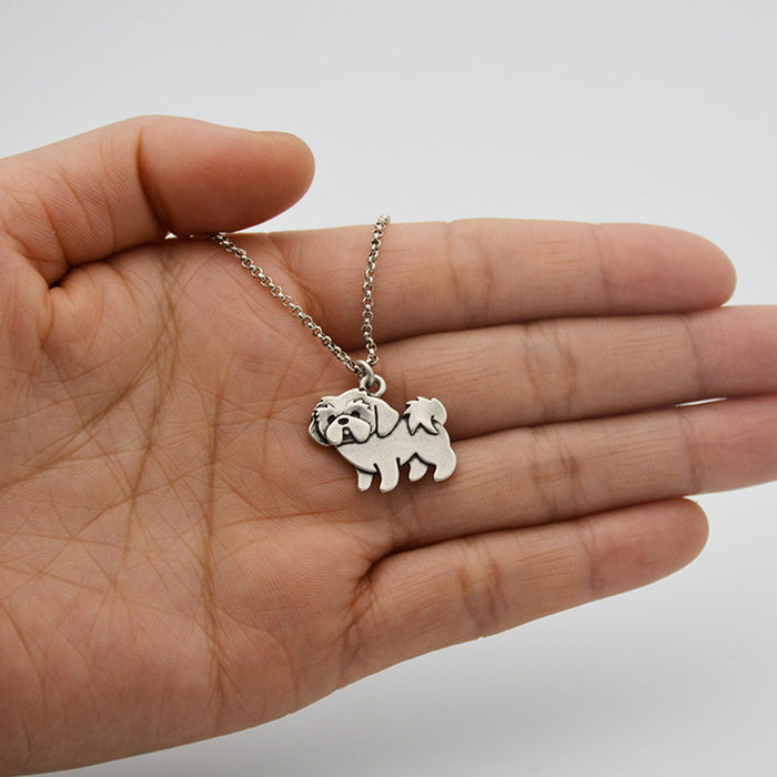 Shih Tzu Dog Charms Necklaces - CrazyPassionateAbout.com