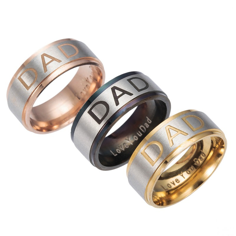 Love You Daddy Ring - CrazyPassionateAbout.com