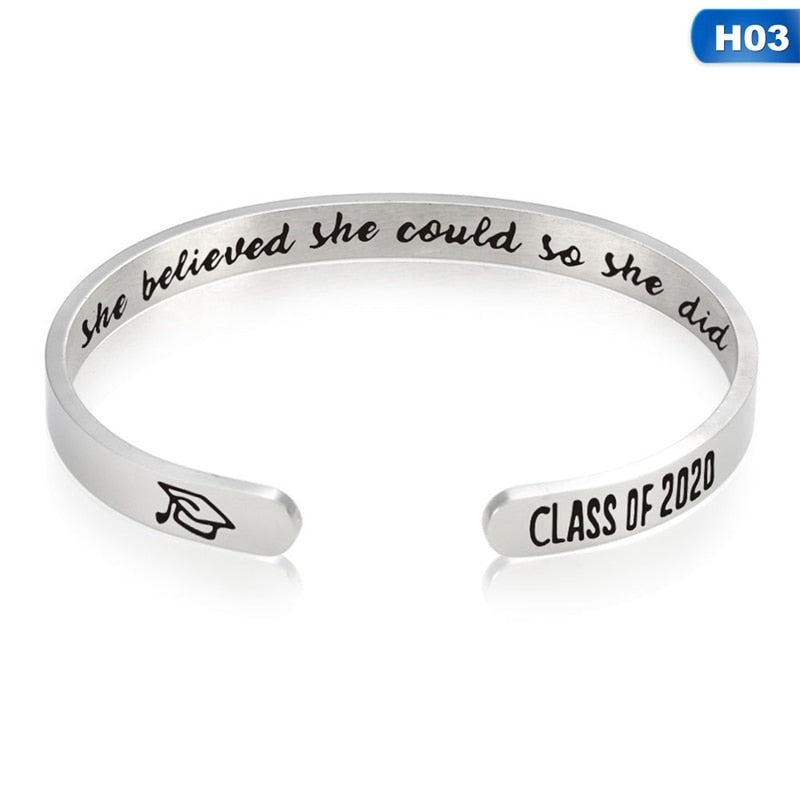 2020 Graduation Motivational Bracelets - CrazyPassionateAbout.com