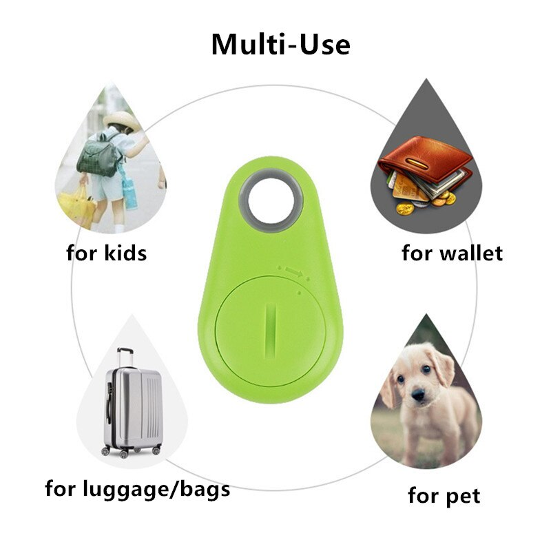 Pets Smart Mini GPS Tracker Anti-Lost Waterproof Bluetooth Tracer For Dog Cat Keys Wallet Bag Kids Trackers Finder Equipment