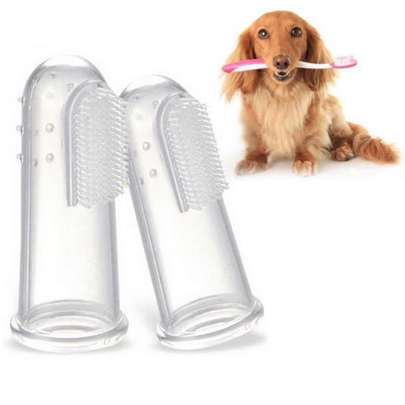 Super Soft Pet Finger Dog Cat Toothbrush Tool To Prevent Disease Tartar and Bad Breath