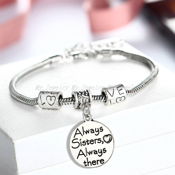 """Always Sister Always There"" Bracelet - CrazyPassionateAbout.com"