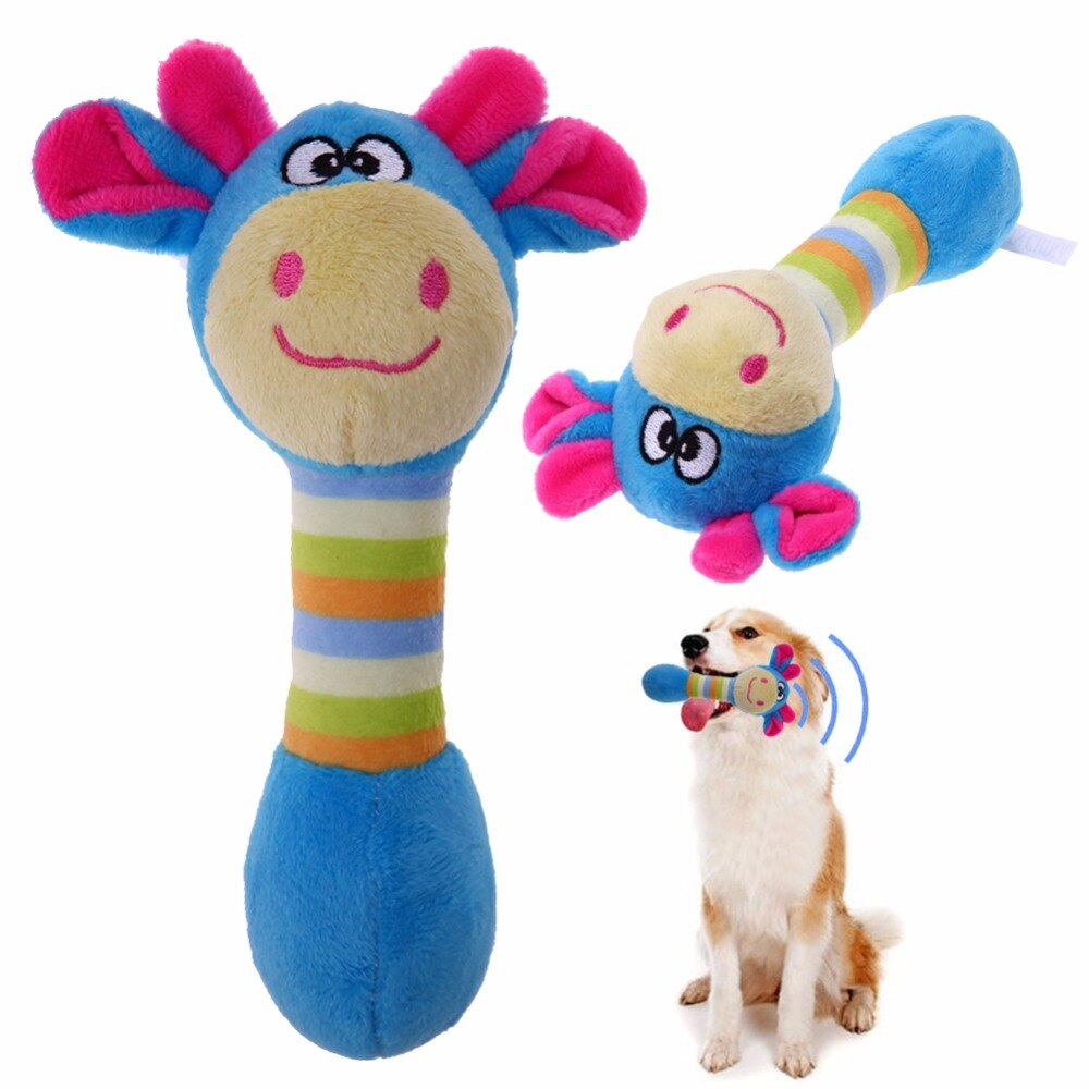 Cute Plush Pet Dog Cat Squeaky Dog Cat Honking Squirrel Chew Toy
