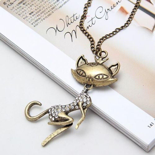 Retro Sexy Cat Necklace - CrazyPassionateAbout.com