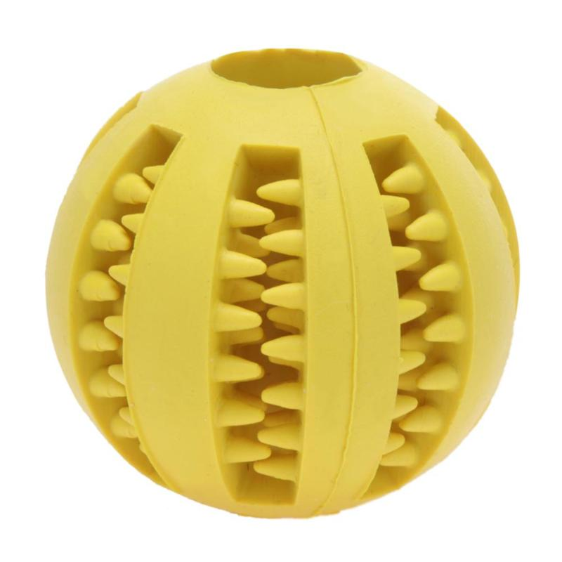 5/7 cm Dog Tooth Clean Ball Chew Toy Food Extra-tough Rubber Funny Interactive Elasticity Ball Pet Sof Pet Dog Toys