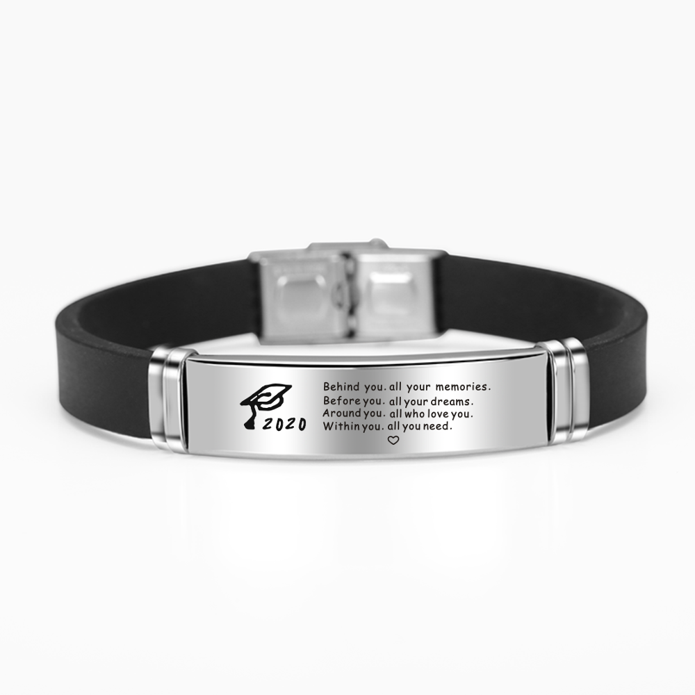 2020 Graduation Inspirational Stainless Steel Bangles Bracelet - CrazyPassionateAbout.com