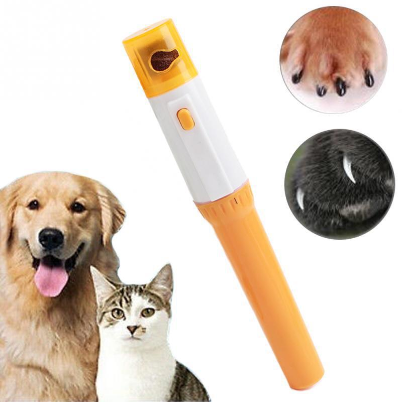 Painless Electric Pet Nail Clipper Cats Dog Paw Nails Grinder Trimmer File Kit Pet Grooming Tool
