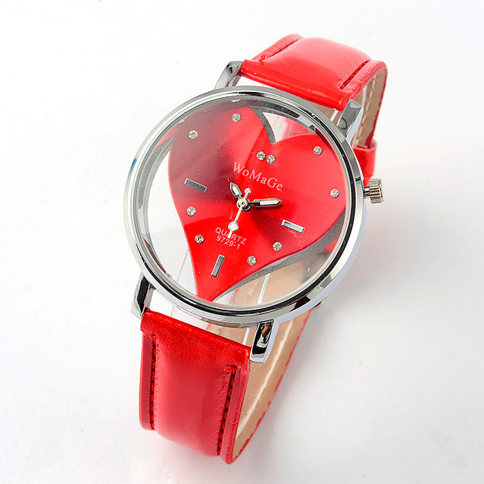 Red Heart Watch - CrazyPassionateAbout.com