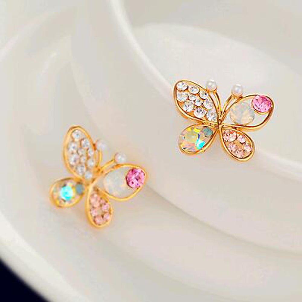 Butterfly Crystal Earrings - CrazyPassionateAbout.com