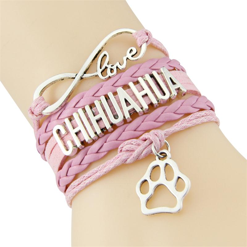 Infinity Love Chihuahua Bracelet - CrazyPassionateAbout.com