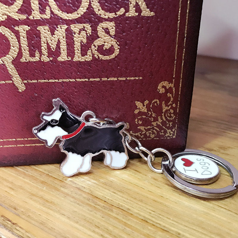 Schnauzer Dogs Keychain - CrazyPassionateAbout.com