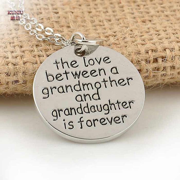 """The Love Between Grandma and Granddaughter"" Necklace - CrazyPassionateAbout.com"