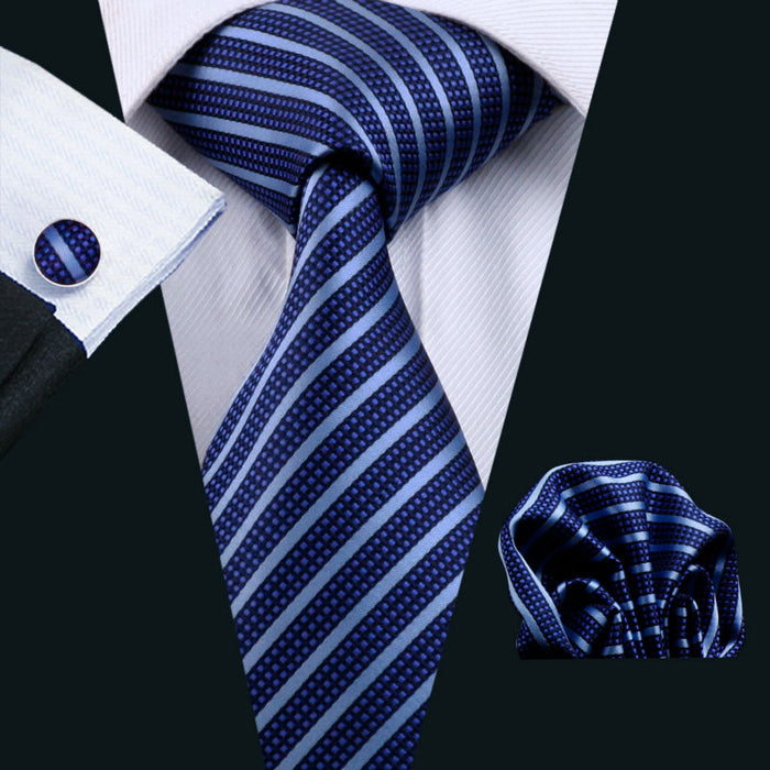 Men's Silk Striped Tie - CrazyPassionateAbout.com