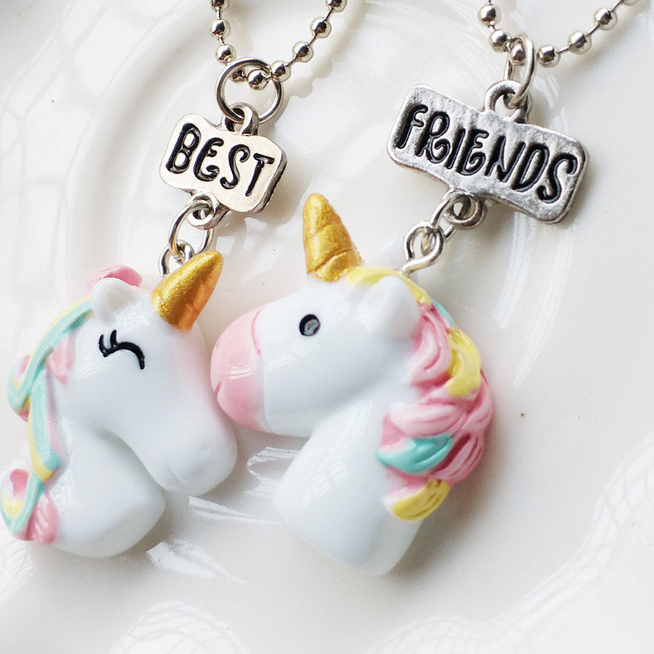 2Pcs BestFriend Unicorn Necklace - CrazyPassionateAbout.com