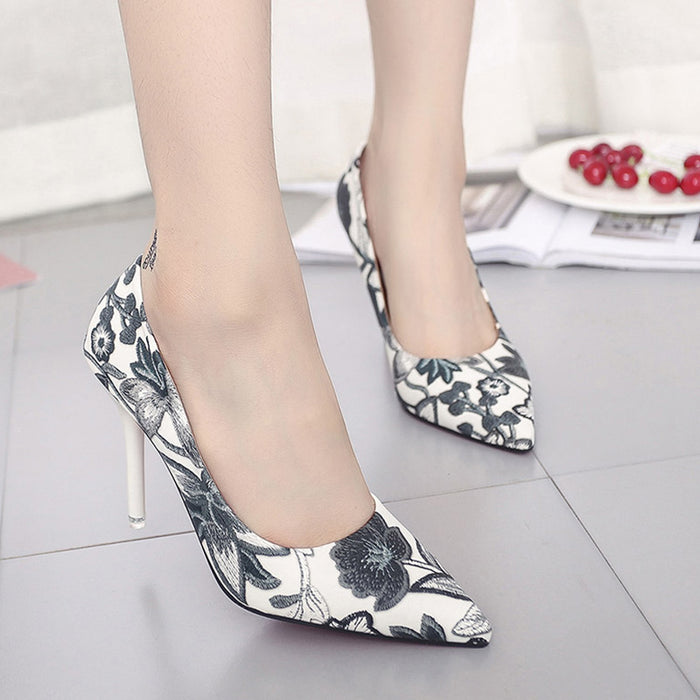 Printed Floral Heels - CrazyPassionateAbout.com