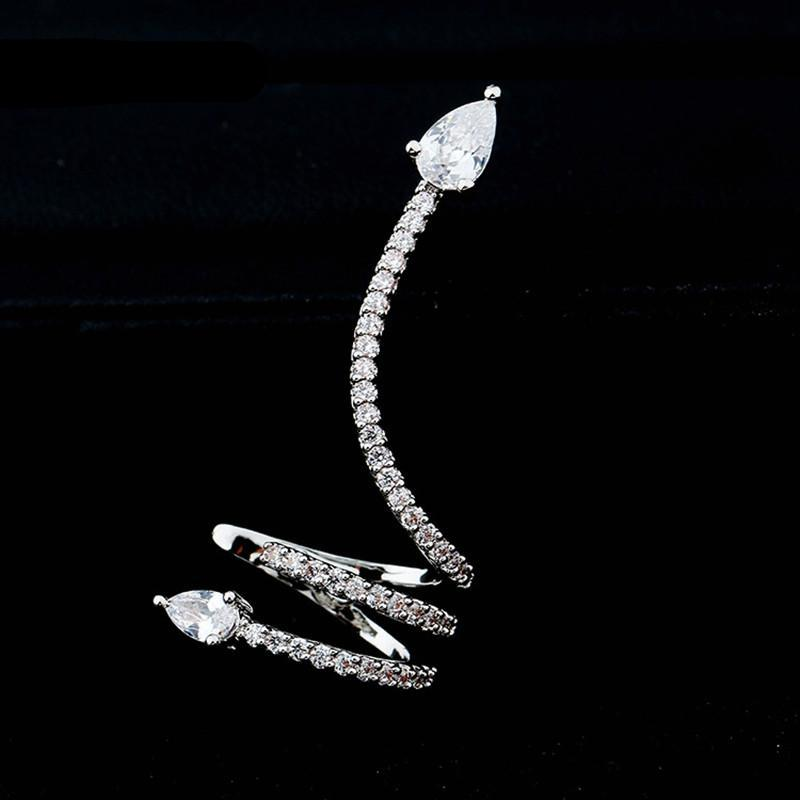 Crystal Snake Stud Earrings - CrazyPassionateAbout.com
