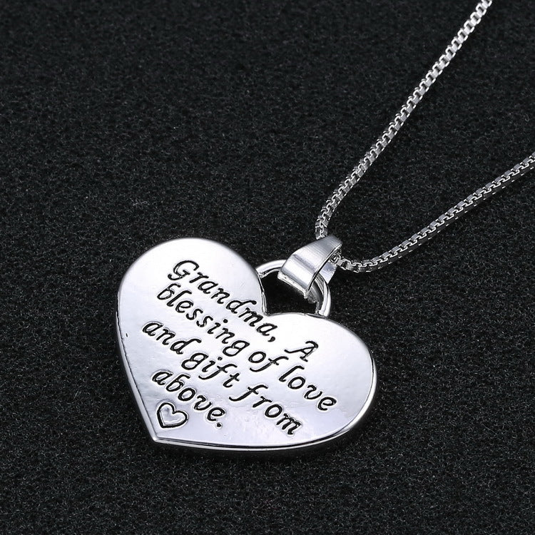 Engraved Grandma Necklace - CrazyPassionateAbout.com