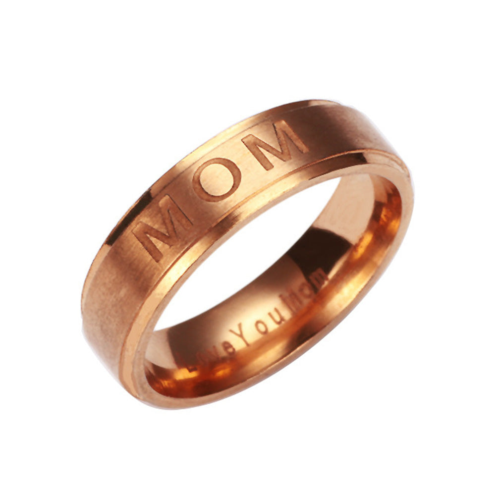 LoveYou Mom Carved Ring - CrazyPassionateAbout.com