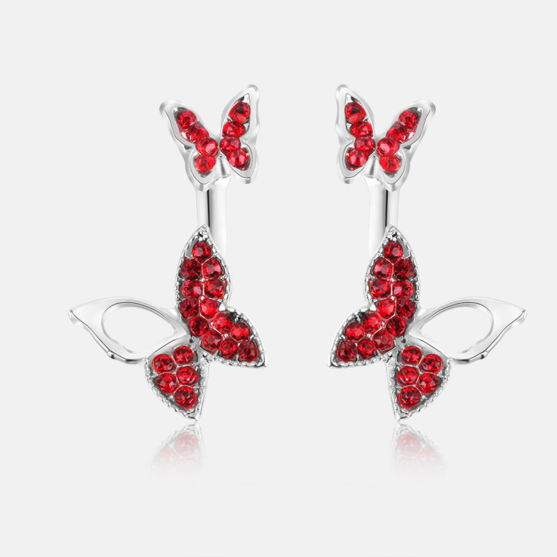 Hanging Butterfly Earrings - CrazyPassionateAbout.com