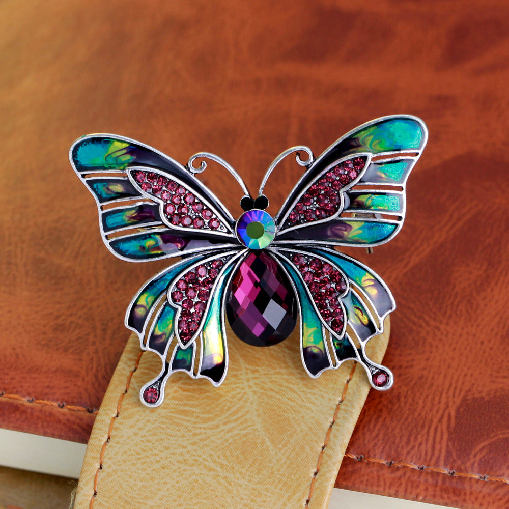 Large Enamel Butterfly Brooch - CrazyPassionateAbout.com