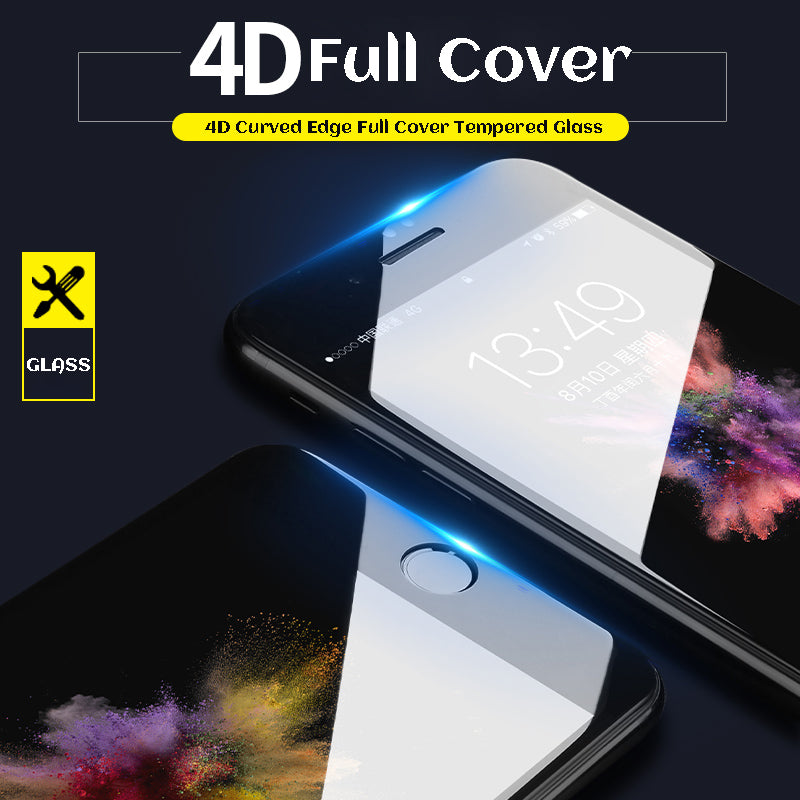 4D Full Cover Tempered Glass For iPhone - CrazyPassionateAbout.com