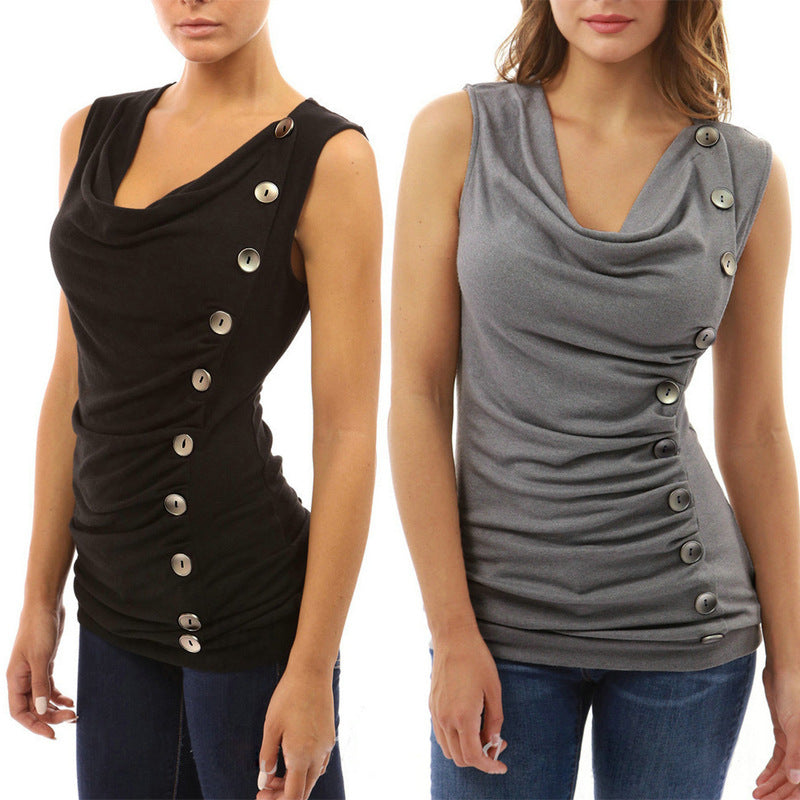 Sleeveless Button Top - CrazyPassionateAbout.com