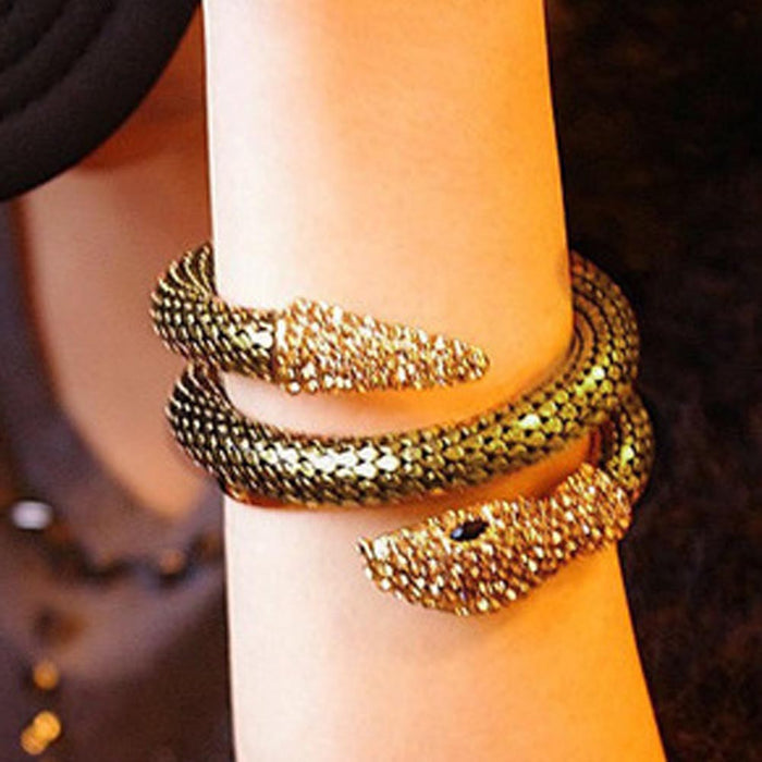 Retro Snake Bangle - CrazyPassionateAbout.com