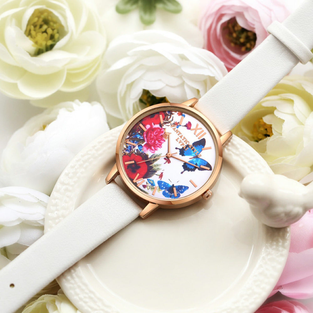 Flower Butterfly Watches - CrazyPassionateAbout.com
