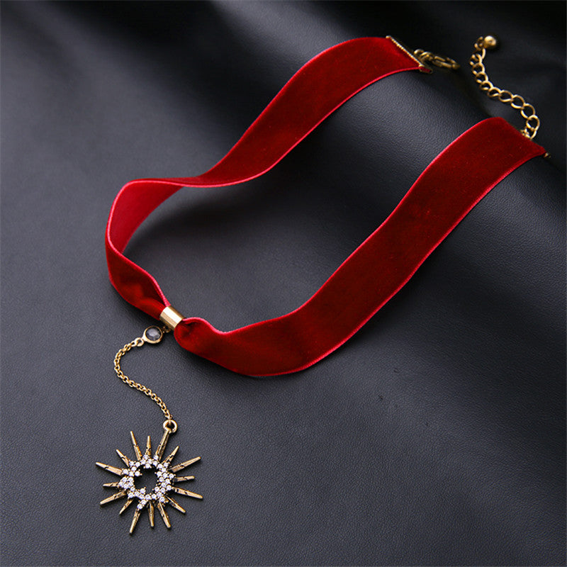 Red Velvet Classic Choker - CrazyPassionateAbout.com
