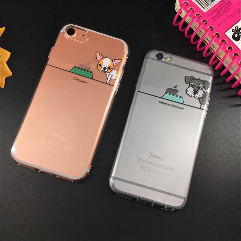 Chihuahua and Schnauzer Design Phone Case - CrazyPassionateAbout.com
