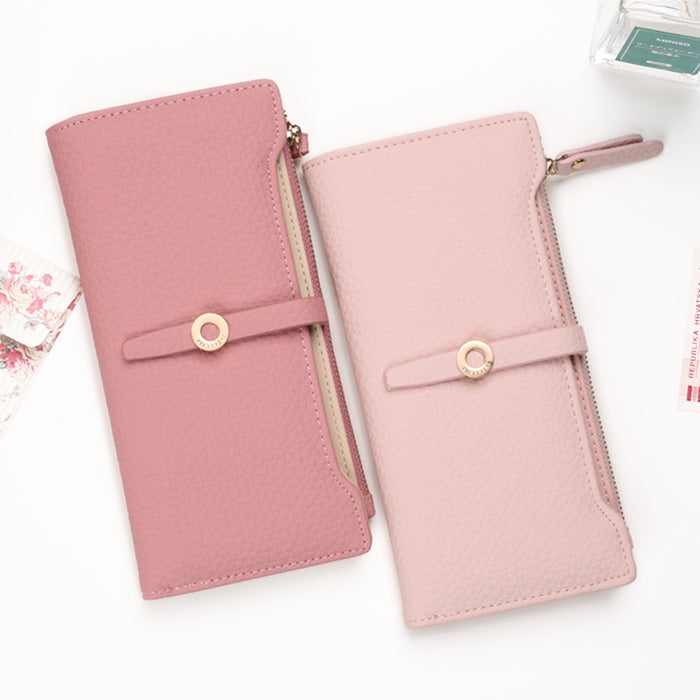 Pink Long Clasp Purse - CrazyPassionateAbout.com