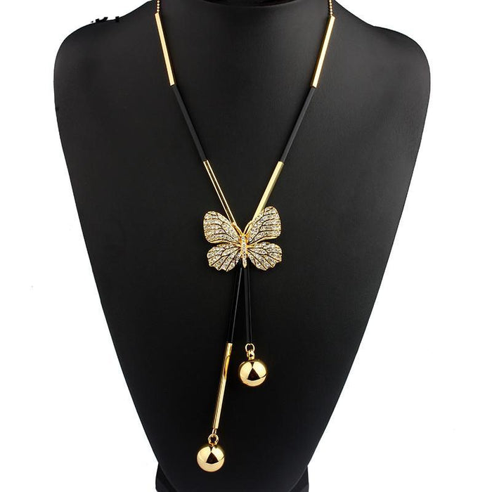 Elegant Butterfly Long Necklace - CrazyPassionateAbout.com