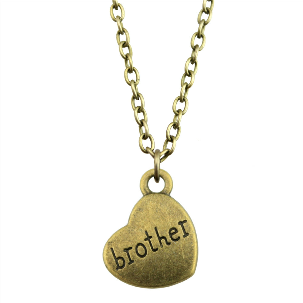 Brother Pendant Chain Necklace - CrazyPassionateAbout.com