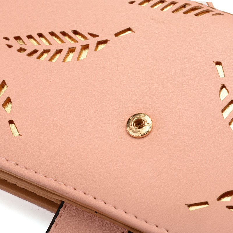Pink Clutch with Leaves - CrazyPassionateAbout.com