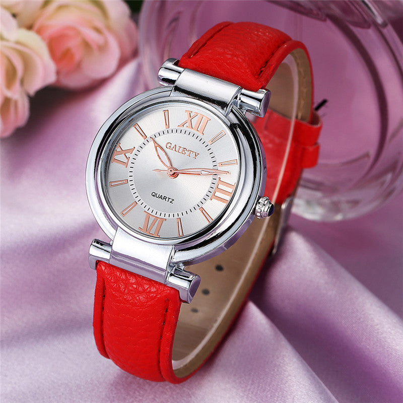 Slim Red Leather Watch - CrazyPassionateAbout.com