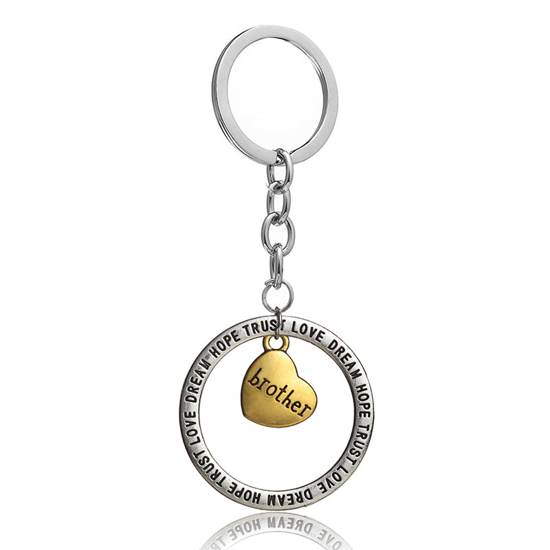 2Pcs Brother & Sister Keychain - CrazyPassionateAbout.com