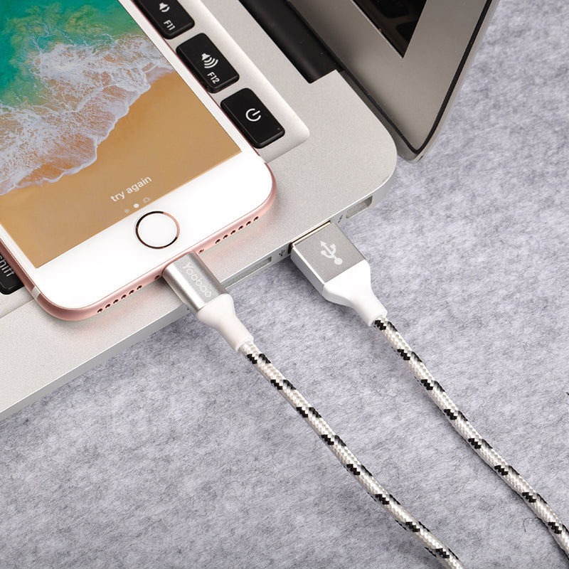 Lightning Nylon Mobile  Cable - CrazyPassionateAbout.com
