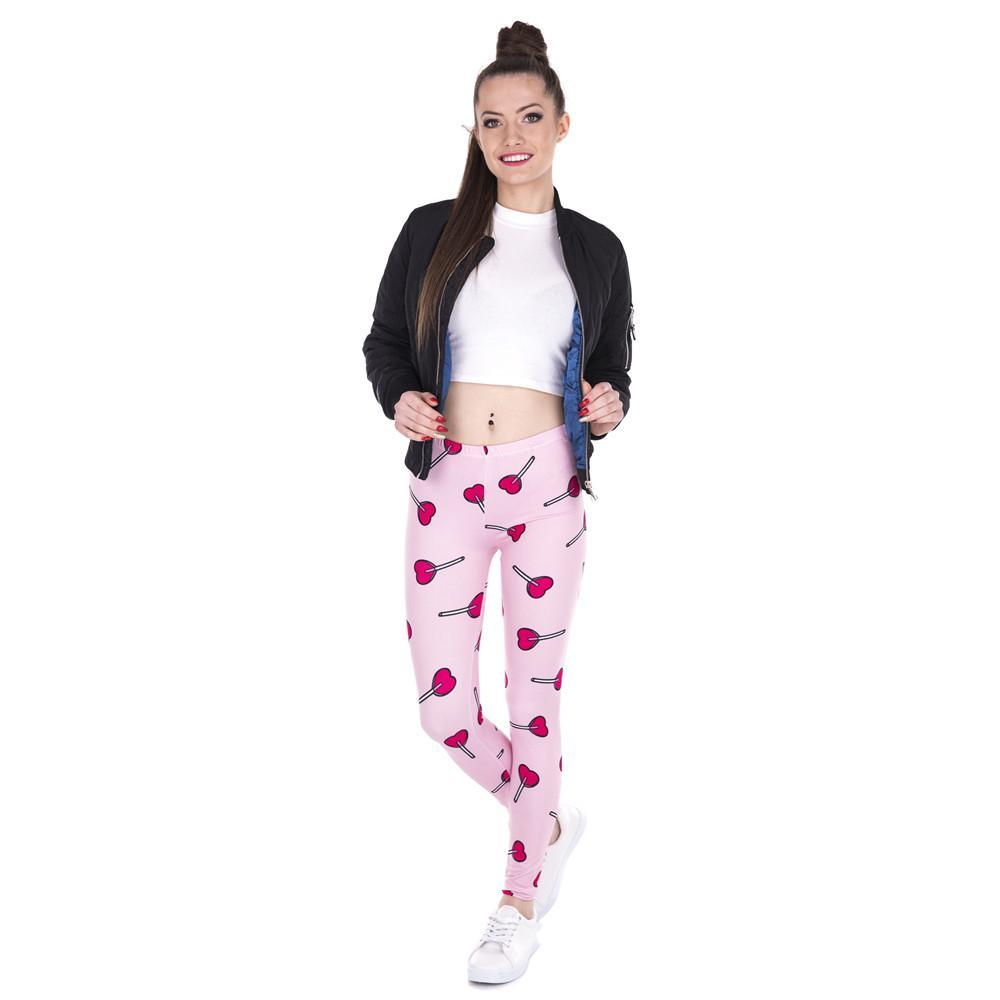 Love Lollipop Printed Leggings - CrazyPassionateAbout.com