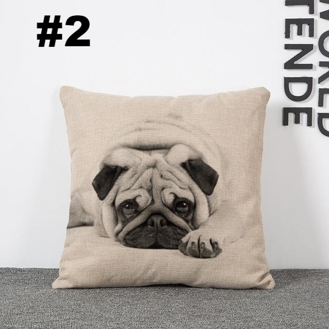 Cute Pug Cushion Pillowcases - CrazyPassionateAbout.com
