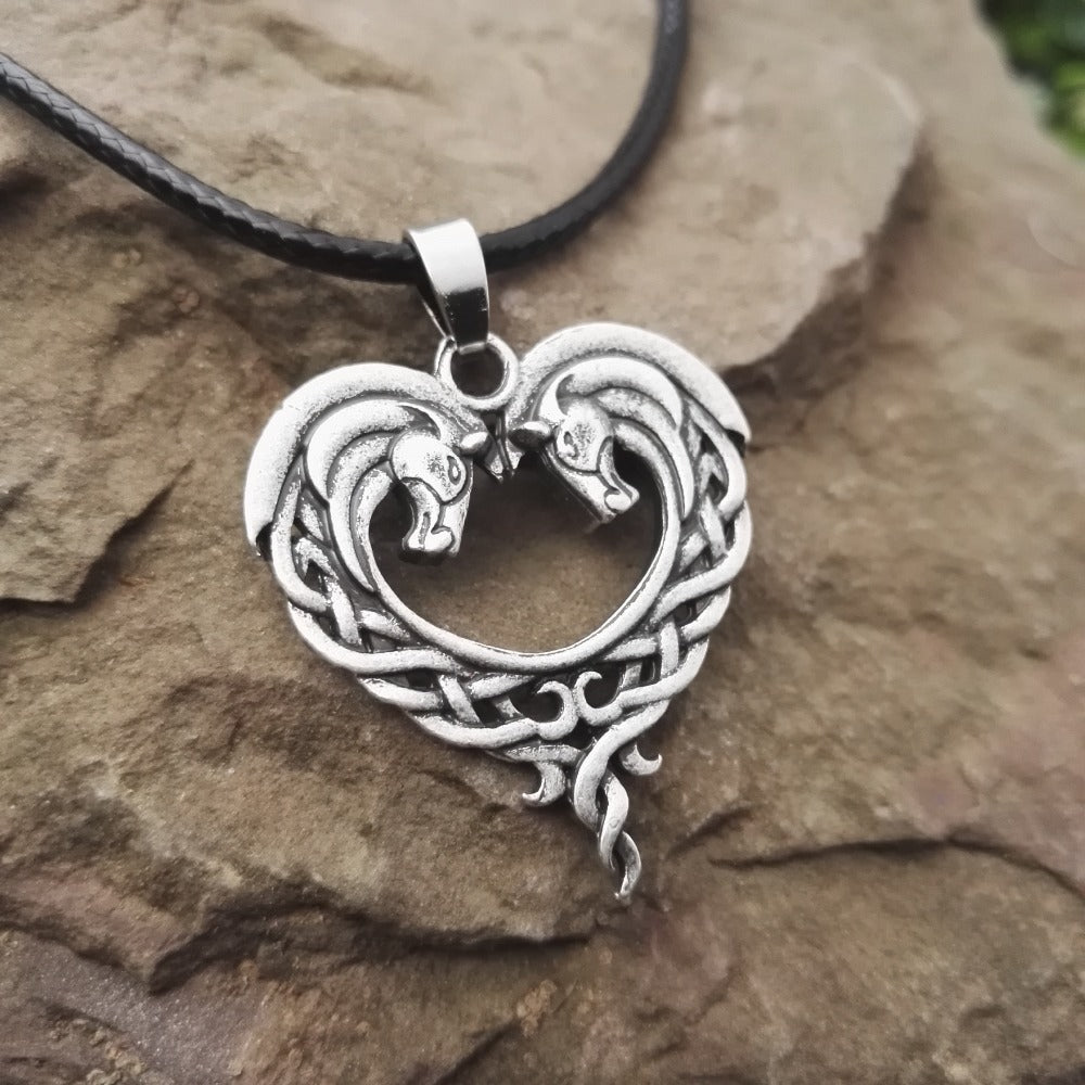 Celtic Horse Cord Necklace - CrazyPassionateAbout.com