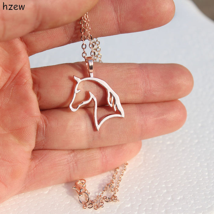 Simple Unicorn Pendant Necklace - CrazyPassionateAbout.com