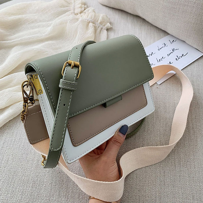 Mini Leather Crossbody Bags For Women 2019 Green Chain Shoulder Messenger Bag Lady Travel Purses and Handbags  Cross Body Bag - CrazyPassionateAbout.com