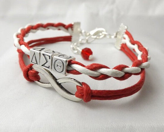 Delta Sigma Theta Sorority  Infinity Bracelet  (Handcrafted) - CrazyPassionateAbout.com