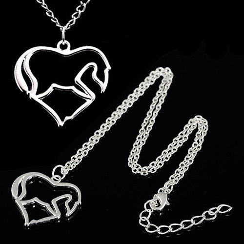 Hollow Horse Pendant Necklace Chain - CrazyPassionateAbout.com