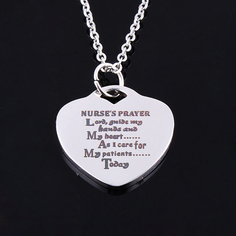 18K Medical Prayer Necklace - CrazyPassionateAbout.com