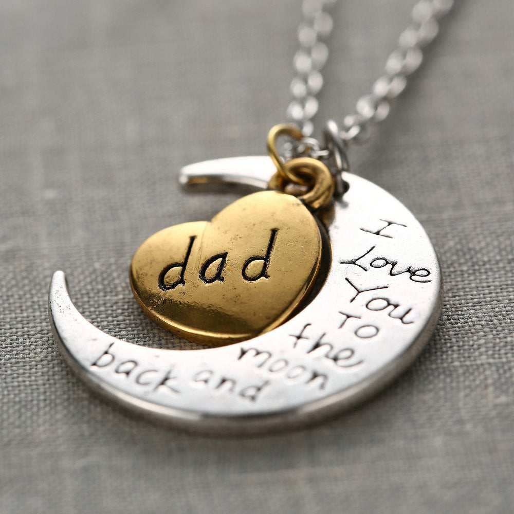 """I Love You"" Engraved Necklace - CrazyPassionateAbout.com"