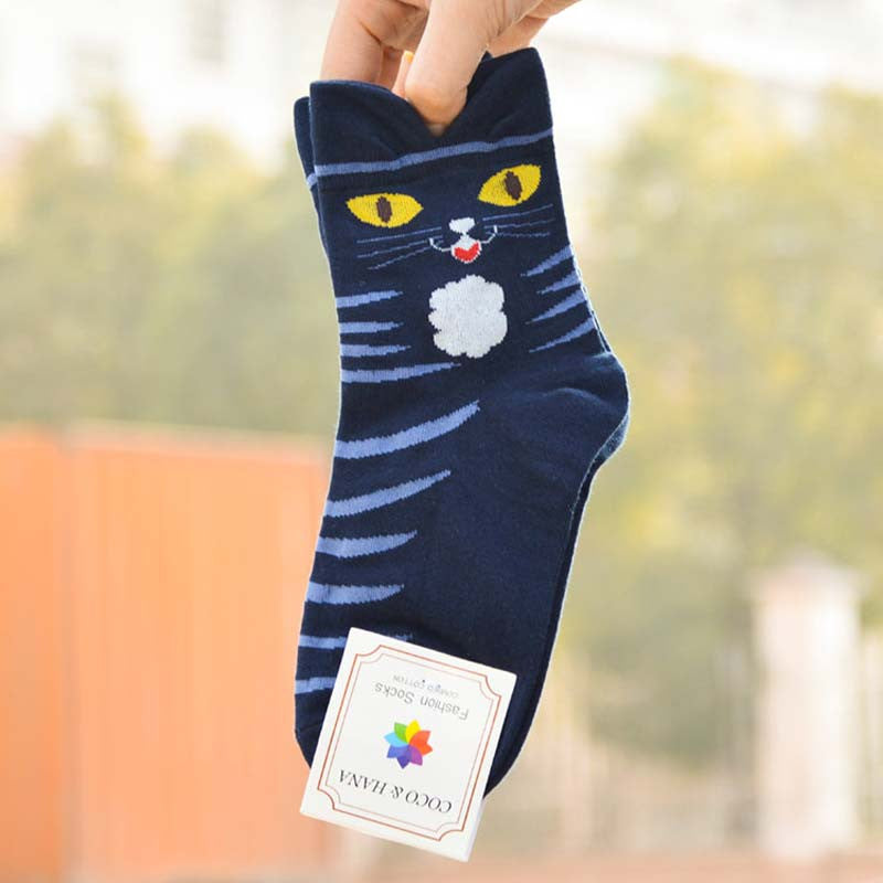 3D Cat Cartoon Socks - CrazyPassionateAbout.com