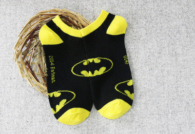Superhero Sock Collection Featuring Ironman Batman Superman Green Lantern Spiderman Flash and More - CrazyPassionateAbout.com