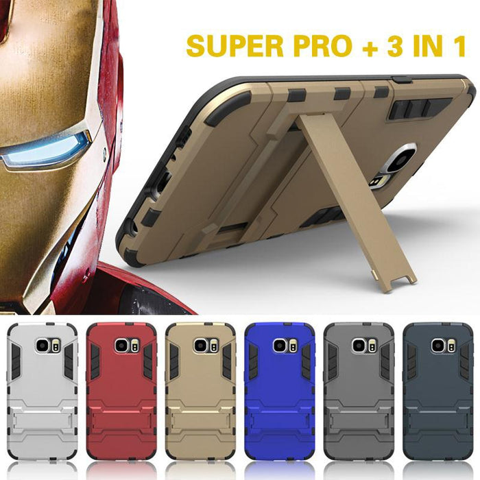 For samsung galaxy S5 S6 S7 edge s6 edge plus Case cover Dual Heavy Duty Hard Silicone case Iron Man Shield 3D Armor phone Case - CrazyPassionateAbout.com