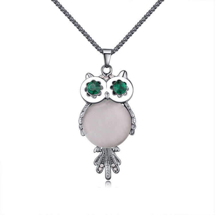 Crystal Jewelry Owl Necklace - CrazyPassionateAbout.com